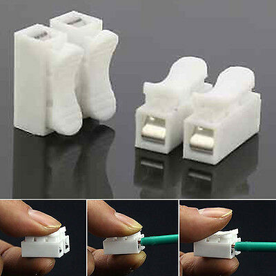 30 PCS Terminal Block No Solding Welding Easy Spring Wire Connector Cable Clamp