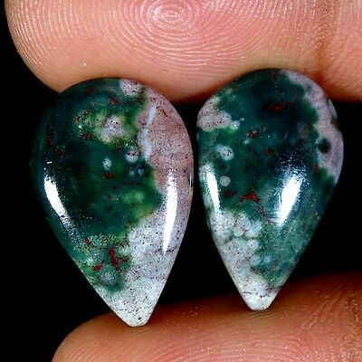 14.60Cts 100% Natural Ocean jasper Maching Pair Cabochon Loose Gemstones