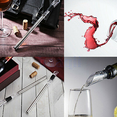 Wine Chill Stick Stainless Steel Bottle Ice Chiller Cooling Fast Pourer Safe DA