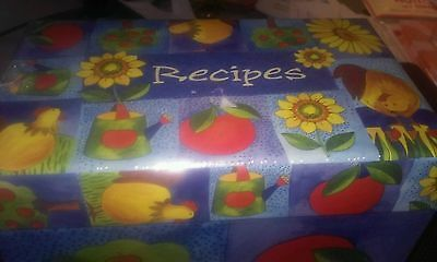Martin Designs Recipe Box Sealed with apples birds flowers COLORFUL