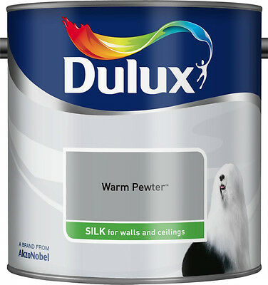Dulux Smooth Emulsion Silk Paint - Warm Pewter - 2.5L - Walls and Ceiling