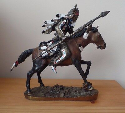 Hamilton Collection - Spirit Of The Plains - Bronze American Indian & Horse - Ex