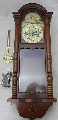 Sun and Moon Pendulum LARGE Wood Cased Wall Clock - 250