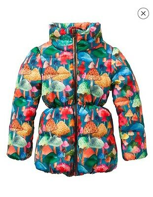 Oilily Carmel Coat All-Over Funghi Forest BNWT 12 Years