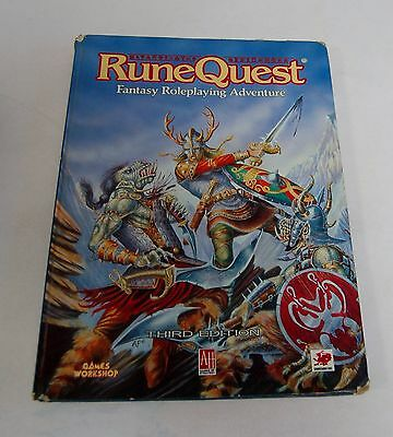 Runequest Hardback Third Edition Fantasy Roleplaying Adventure Book
