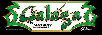 Galaga Arcade Marquee For Reproduction Midway/Bally Backlit Sign