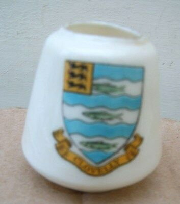 Grafton Crested China Model of Egyptian 4000BC Pot. Clovelly Crest.