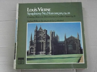 VIERNE SYMPHONY # 3 for organ - ARTHUR WILLS / ELY CATHEDRAL ORGAN LP XID 5275