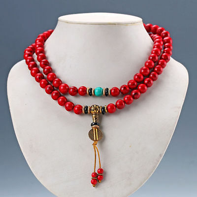 Chinese Natural Red Turquoise Handwork Necklaces & Pendant  Rt