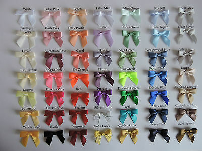 Satin Ribbon Bows x 20  in 50 Colourways