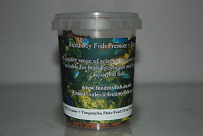 Aquarium Cichlid Tanganyika Specialist Flake Fish Food 520 ml Tub Approx 70g