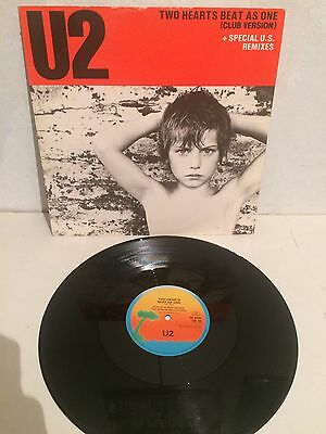 "U2 - Two Hearts Beat As One 12"" Maxi Vinyl 12 IS 109 VG+/VG+"