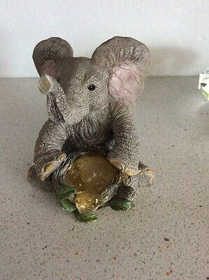 Tuskers Elephant - Bubbles (90801) Hand Crafted & Painted (Rare)