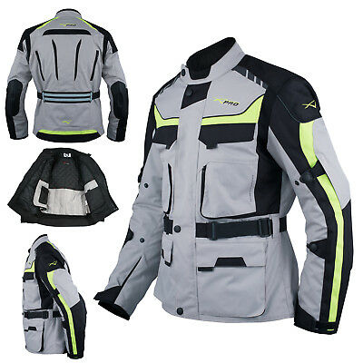 Chaqueta Moto Scooter Termica Impermeable Transpirable Gris