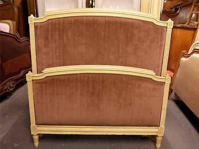 VINTAGE UPHOLSTERED  FRENCH SINGLE BED - dv0117