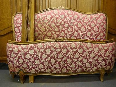 VINTAGE UPHOLSTERED FRENCH KING SIZE BED - dv
