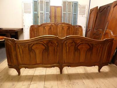 VERY RARE ANTIQUE FRENCH EMPEROR BED -  over 2m wide - cv28