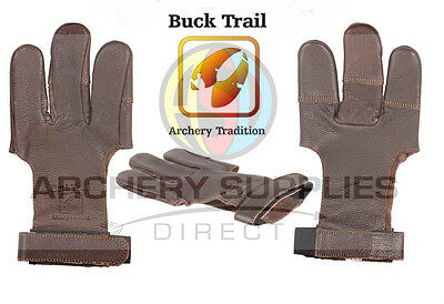 Buck Trail Damascus Full Palm High quality brown leather Archery Glove