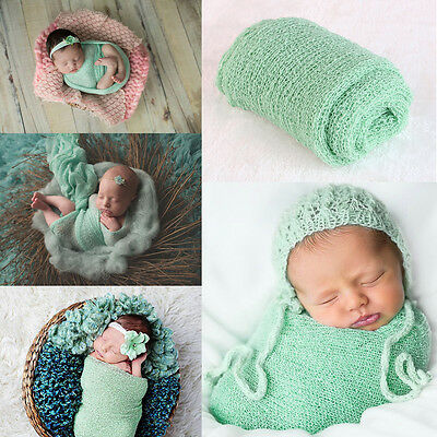 Newborn Baby Girl Boy Cotton Knit Costume Photo Photography Prop Wrap Outfits