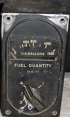 4-Way Fuel Quantity Gauge as removed from WW II B-29 Superfortress  INS-0111
