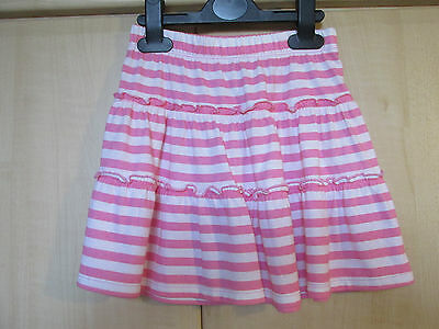 Girls Pink White Stripe Frill Skirt size age 3-4 years  NEW