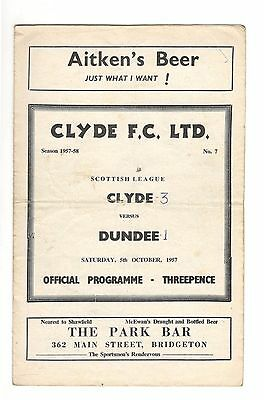 Clyde v Dundee 1957 - 1958