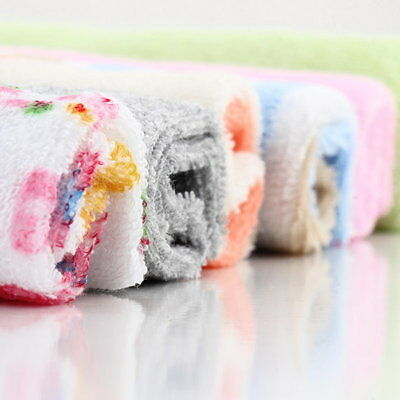 8Pcs Baby Infant Newborn Bath Towel Washcloth Bathing Feeding Wipe Cloth Soft YA