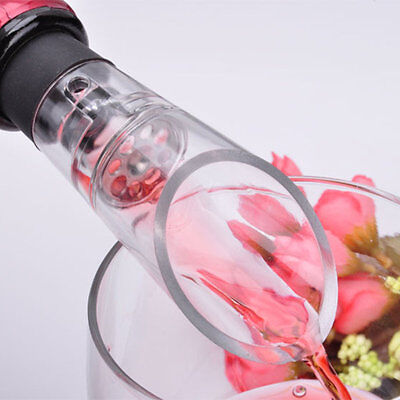 Acrylic Stainless Wine Aerator Pour Spout Bottle Stopper Decanter Aerating YA