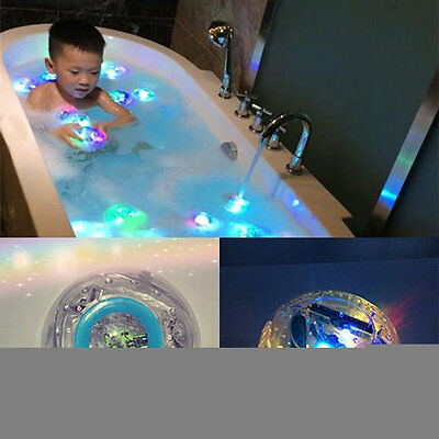 Waterproof Bathroom LED Light Toys Kids Children Funny Bath Toy Multicolor YA