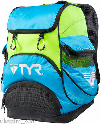 TYR Alliance Team Mini Backpack TYR Small Backpack - Blue and Green