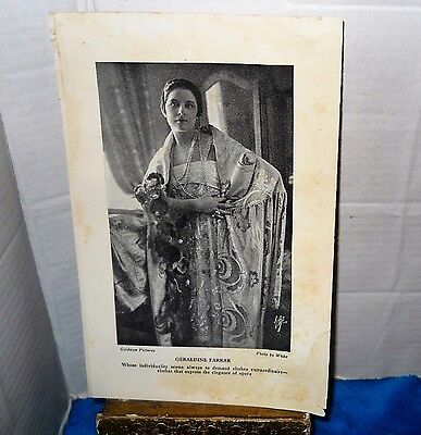 1920's Geraldine Farrar Goldwyn Pictures Photo~By White~Gorgeous Outfit