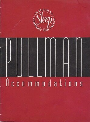 Pullman Accomodations Sleep In Comfort And Safety 1935 Brochure