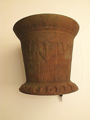 Antique Ornate Victorian Rusty Cast Iron Ice Bucket Spittoon Planter Chilled 20P