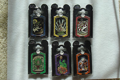 WDI Disney Haunted Mansion Holiday Nightmare Stretching Portrait Cast 6 Pin Set