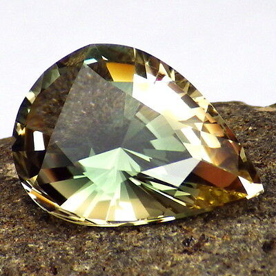 GREEN-PINK-GOLD OREGON SUNSTONE 10.30Ct FLAWLESS-LARGE-FOR UNIQUE JEWELRY-RARE!