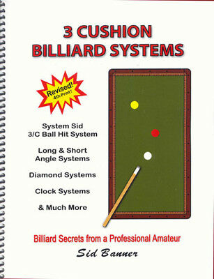 3-Cushion Billiard Systems book - Fourth Printing!  Completely Revised! Improve!