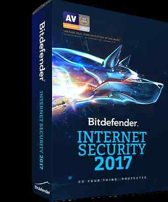 Bitdefender Internet Security 2017 3Pc 2Años Esd Original Nueva