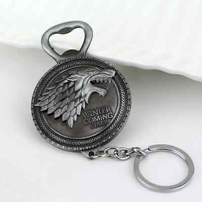 Game Of Thrones Gadget Keychain Keyring Bottle Opener Silver(Get it in 2-3 days)
