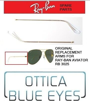 Aste di Ricambio Replacement Arms RayBan Aviator 3025 Ray Ban Spare parts GOLD