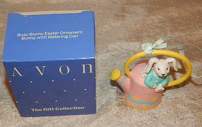 Vintage Avon Easter Ornament Bunny with Watering Can #049 New