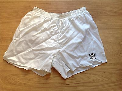 VINTAGE RETRO ADIDAS SPRINTER SHORTS SIZE D7 32-34-36 WHITE HIGH CUT 80s