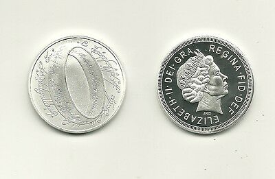 Rare / Medaille - The Lord Of The Rings - Queen Mum / Colour Argent Silver Medal