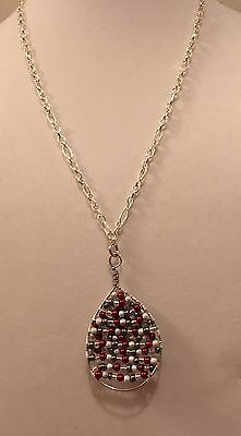Seed Bead Christmas Necklace Pendant