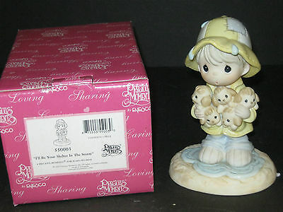 """Precious Moments 550003 I'll Be Your Shelter In The Storm """"new In Box"""""""