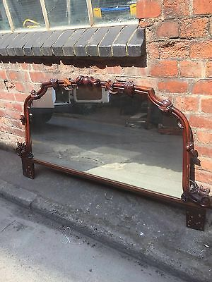 Wooden Carved Over Mantle Mirror