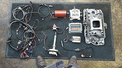 small block chevy FAST fuel injection system complete  holley edelbrock msd