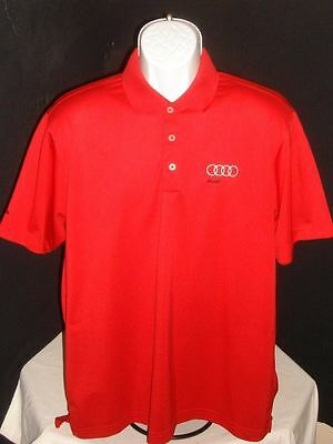 Audi Collection Adidas Climalite Red S/S Polo Shirt Sz. L