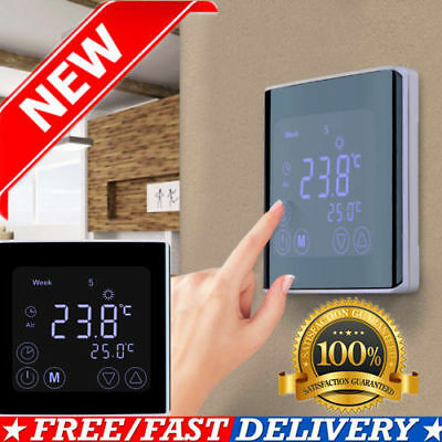 digital touch screen wi fi wlan fu bodenheizung thermostat programmierbar hy03we eur 33 99. Black Bedroom Furniture Sets. Home Design Ideas