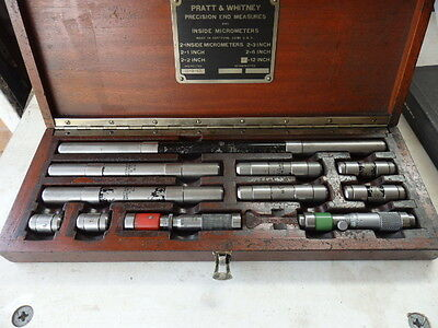 Vintage Imperial end measuring micrometer set / inside bore micrometer