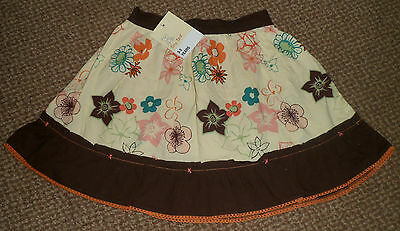 Girls Multi Cocoa Flower Skirt By Tiny Ted Age 2-3 Years Bnwt